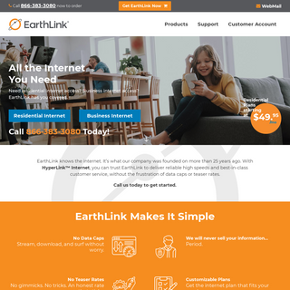 EarthLink Internet Services - Unlimit Your Options - Say No to Data Caps