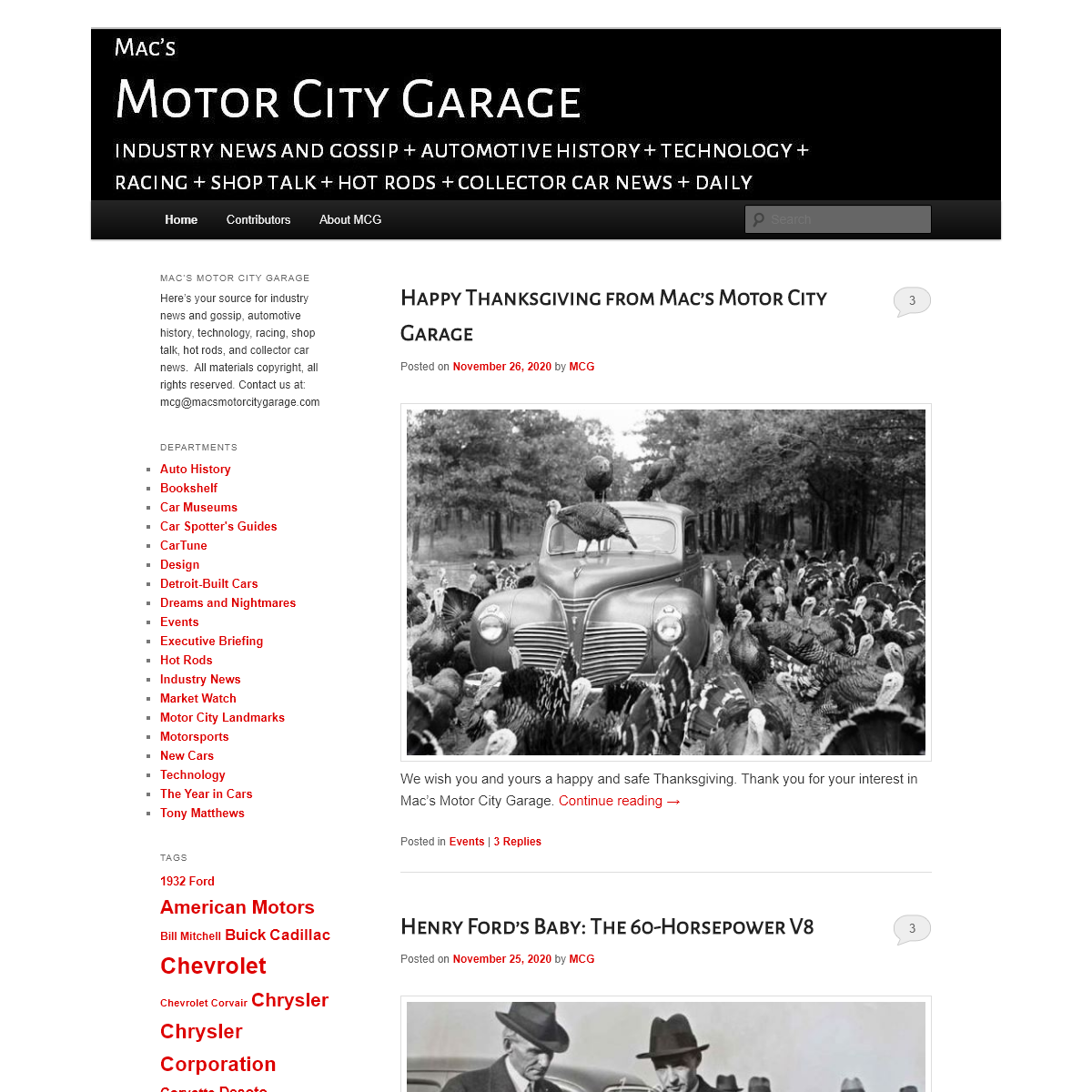 Mac`s Motor City Garage - Auto Industry News and Gossip + Racing + Automotive History + Technology + Shop Lore + Hot Rods + Coll