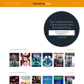 maxdome Store - Die neuesten Blockbuster im Einzelabruf, ganz ohne Abo