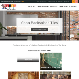 BELK Tile - Shop Online Tile Store - Glass, Ceramic Tiles & More