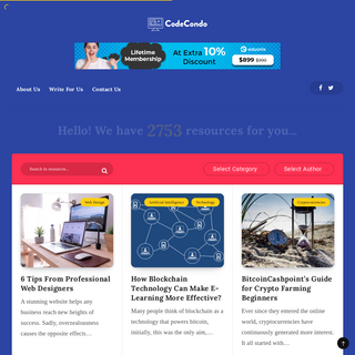 Web Development & Technology Resources - CodeCondo