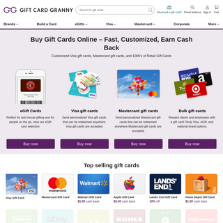 Buy Gift Cards, Visa Gift Cards, and Bulk Gift Cards - GiftCardGranny