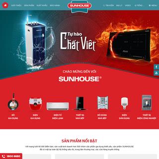 Website chính thức của Tập đoàn SUNHOUSE - SUNHOUSE GROUP