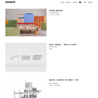 Smarin - Stéphanie Marin - Indoor and Outdoor furnitures