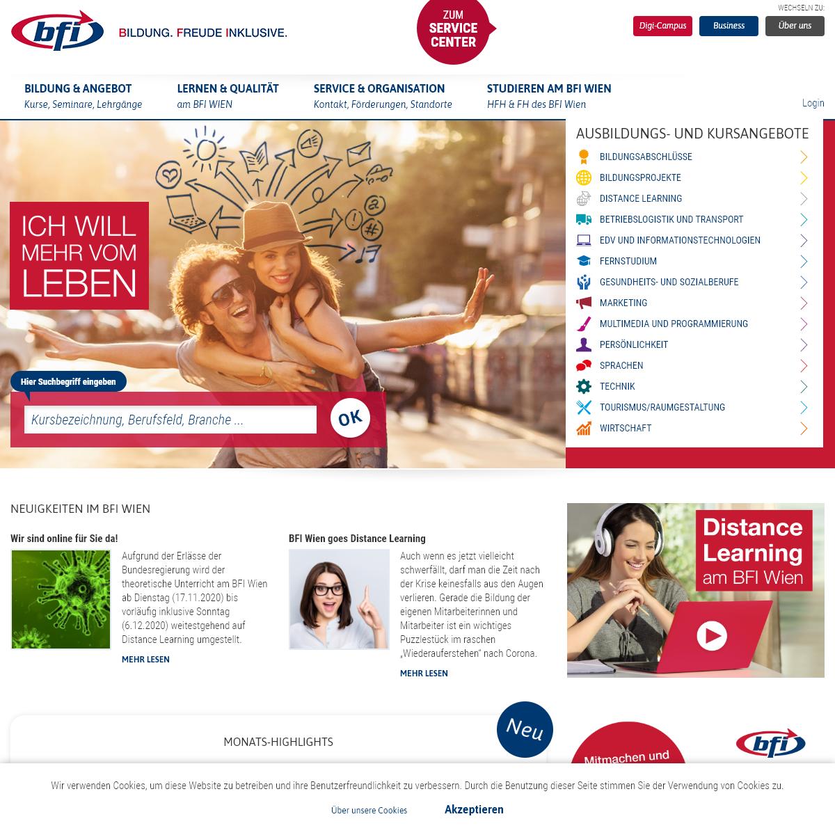 Ausbildung, Weiterbildung, Kurse, Seminare - BFI Wien