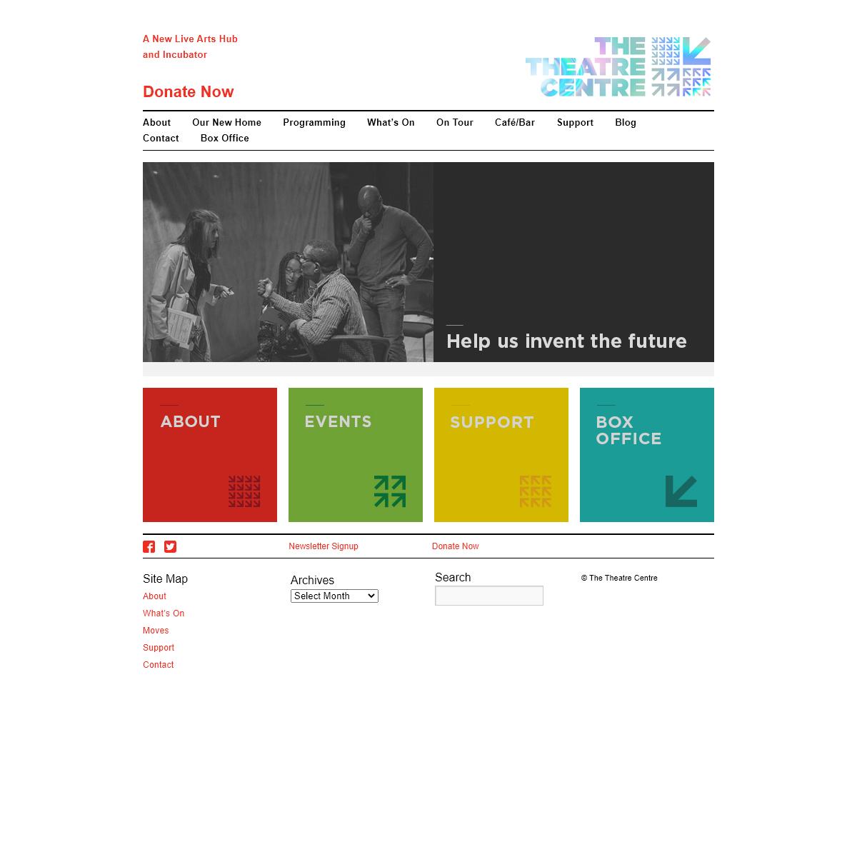 The Theatre Centre - A New Live Arts Hub and Incubator