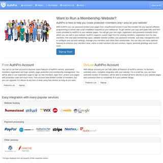 Login, password protection and membership management service for your website - AuthPro