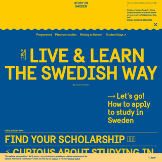 Study in Sweden – Live and learn the Swedish way