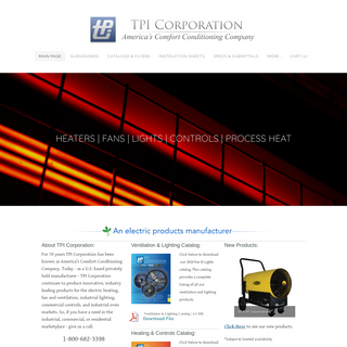 TPI Corporation - Electric Heat - Industrial Fans & Lights - Process Heat Ovens - Thermostats & Controls - TPI Corporation - Ele