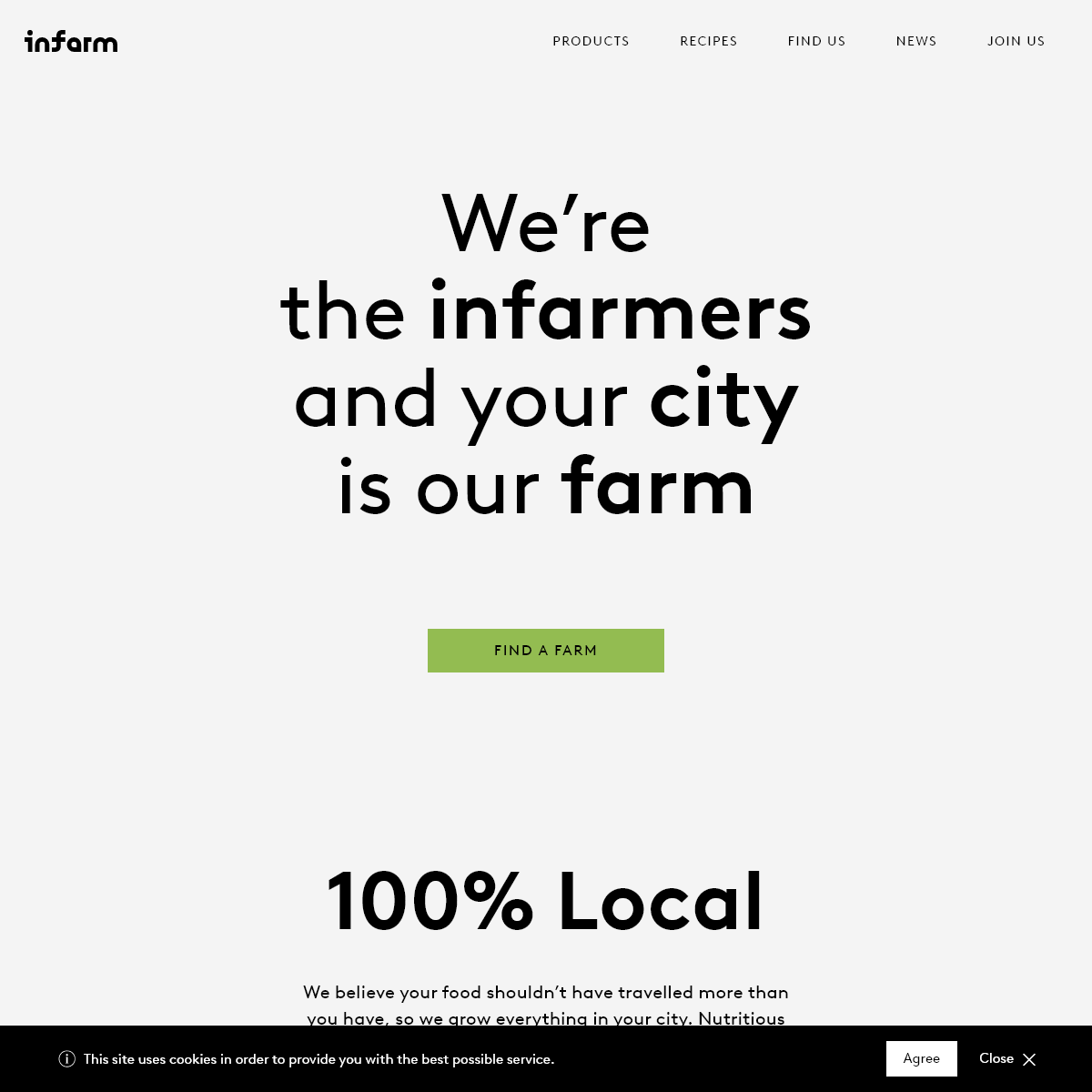 Growing a new food system in your city - Infarm