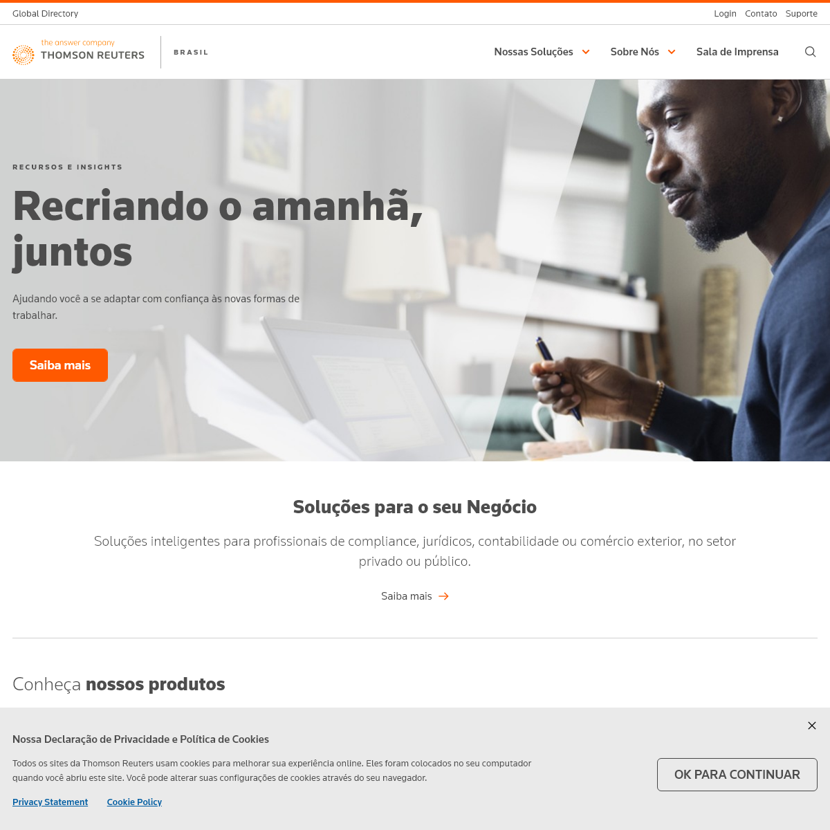 Homepage - Brasil - Thomson Reuters