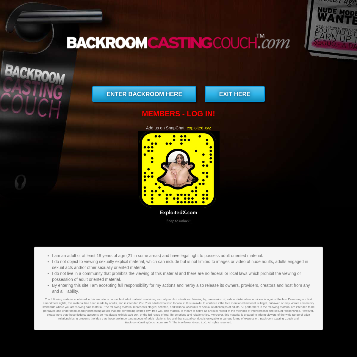 A complete backup of www.backroomcastingcouch.com