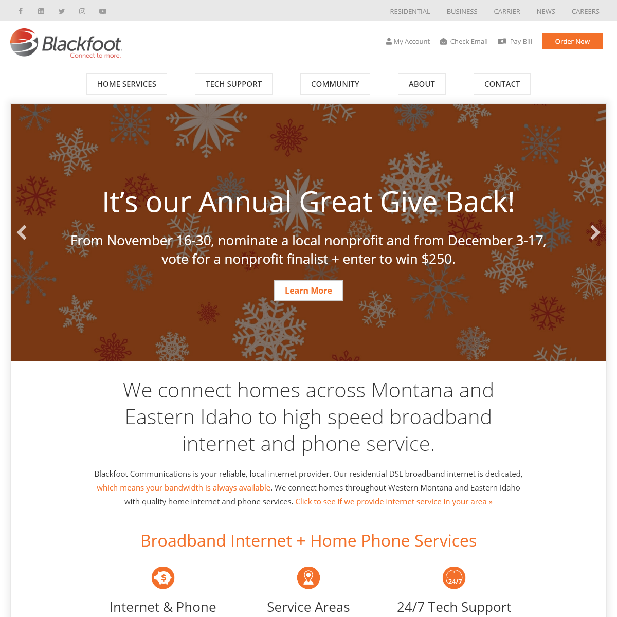Local Internet Provider - Home Internet and Phone Service • Blackfoot