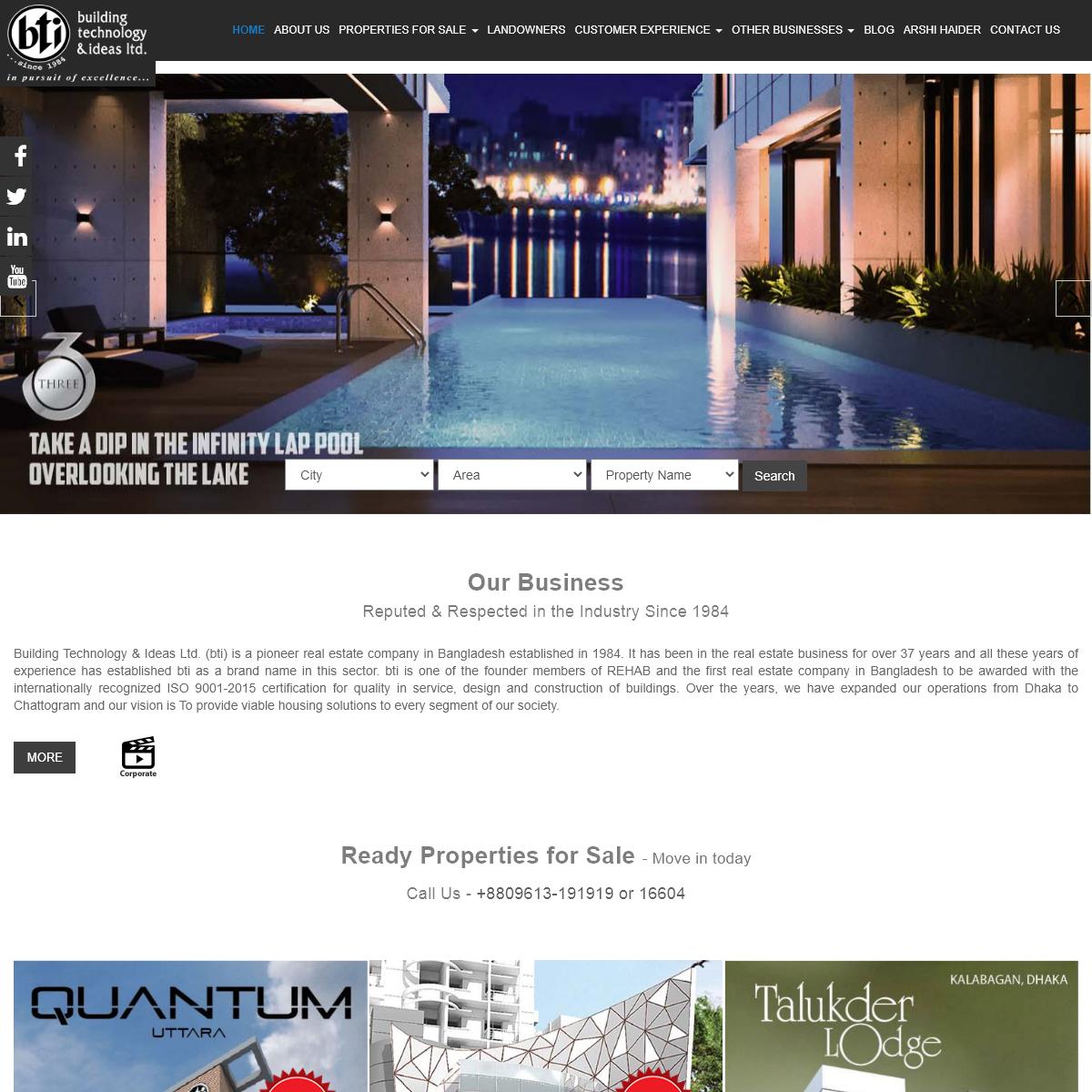 BTI - A Leading Real Estate Developer Company in Bangladesh