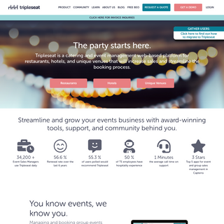 Event Management and Catering Software from Tripleseat