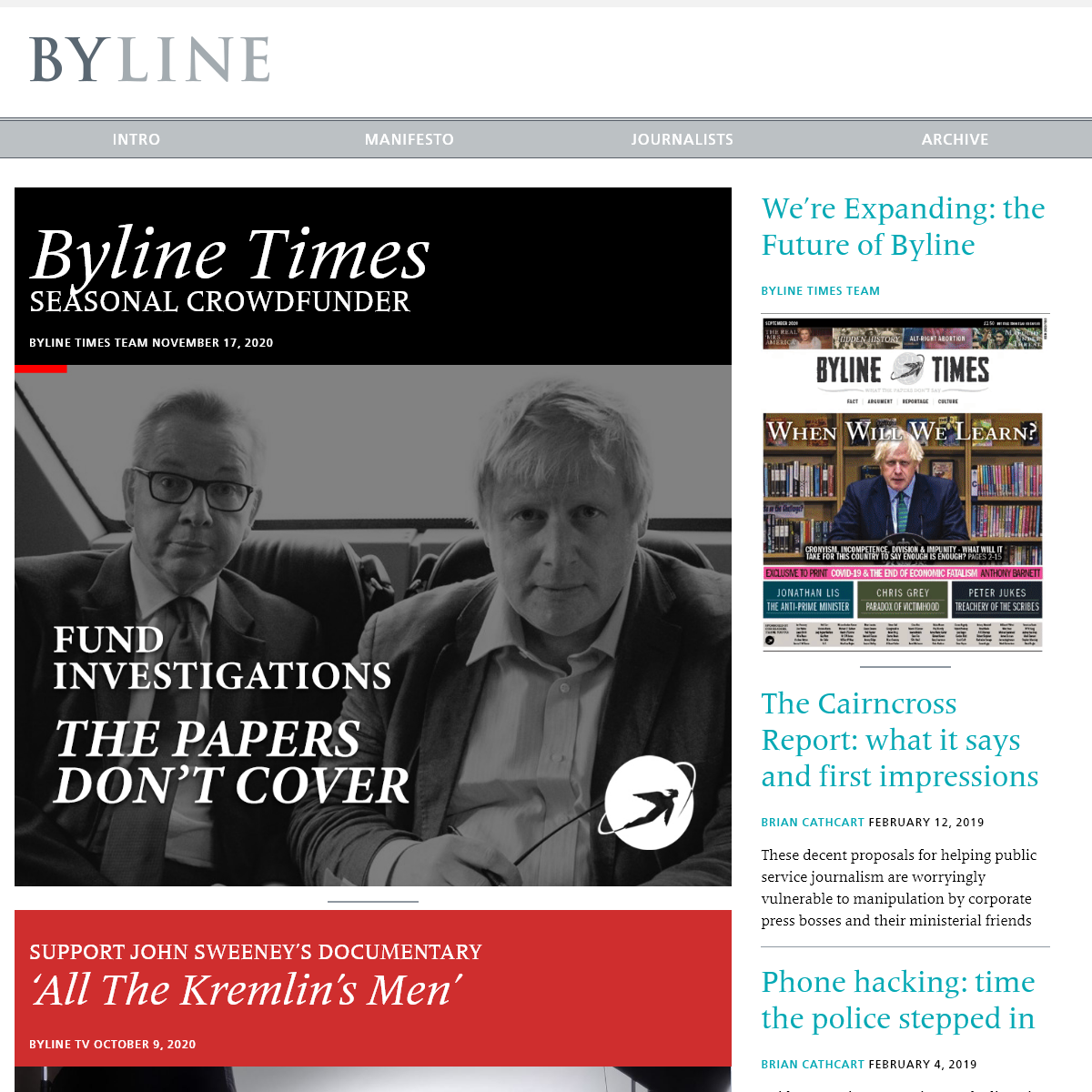 Homepage - Byline