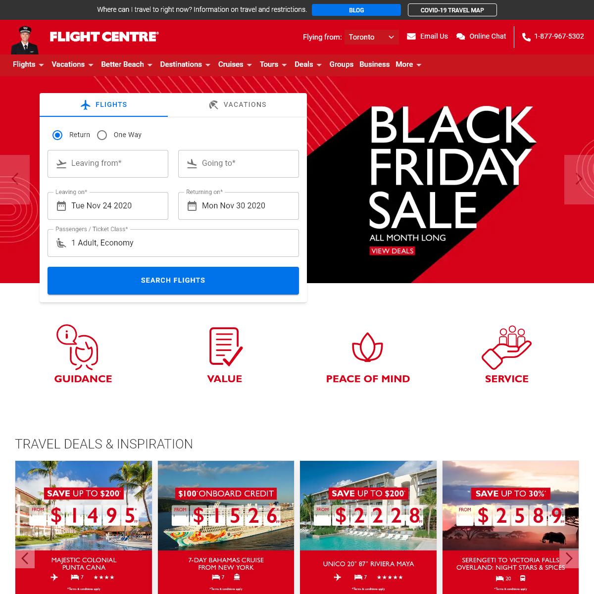 Cheap Flights, Vacation Packages & Travel Deals - Flight Centre
