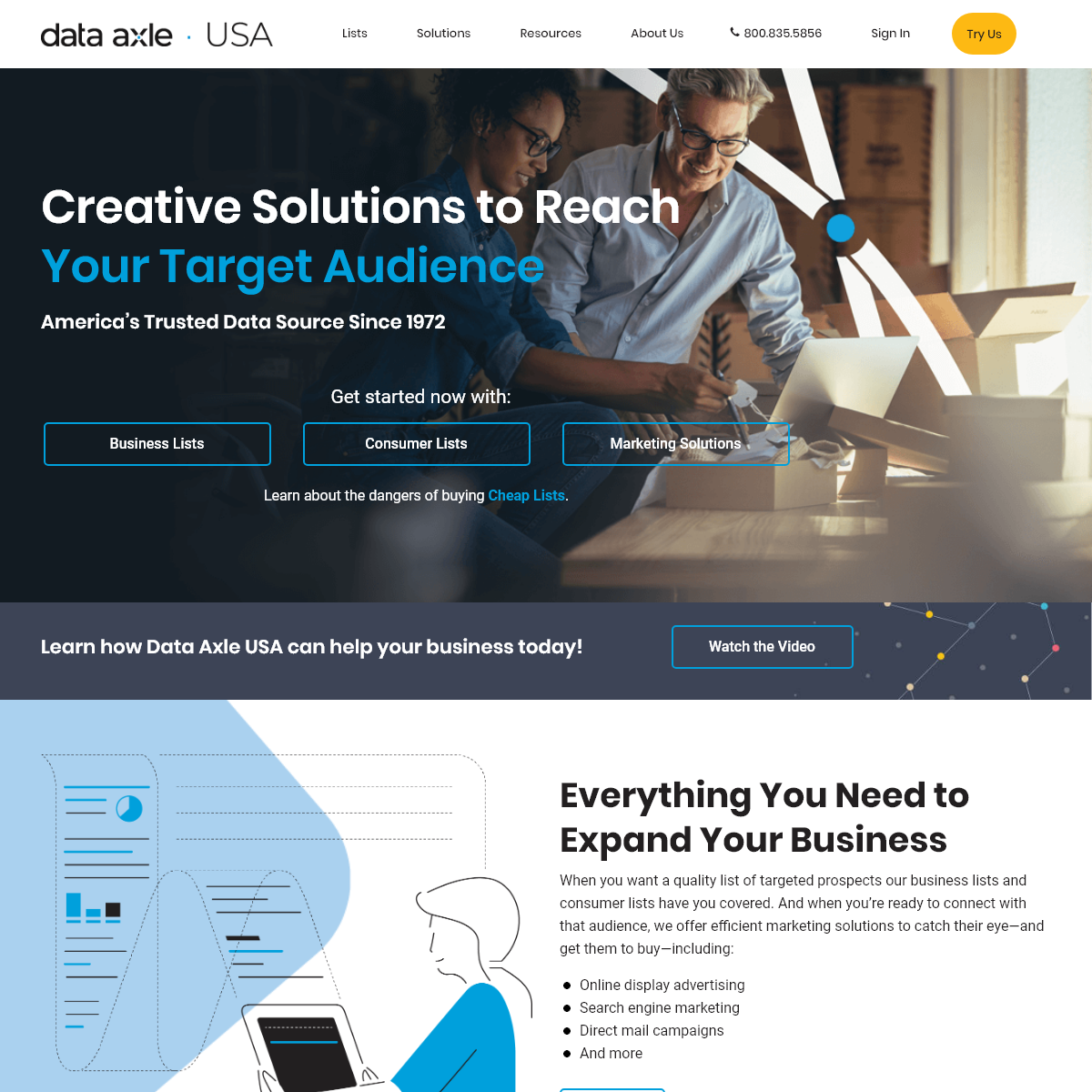 Data Axle USA - Mailing Lists - Email Lists - Sales Leads - Business - Consumer