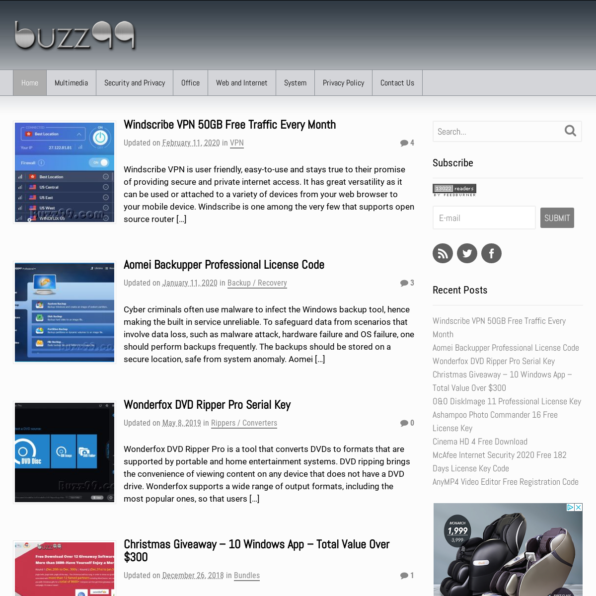 Buzz99 - Giveaways, Promos, and Best Software Deals