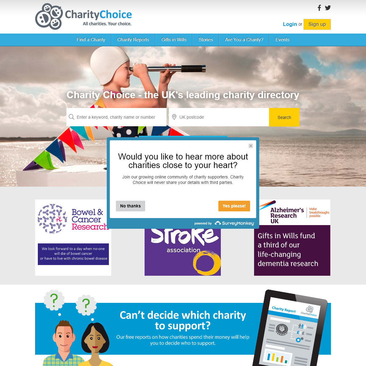 Charity Choice - Charity Directory - List of Charities - Online Fundraising