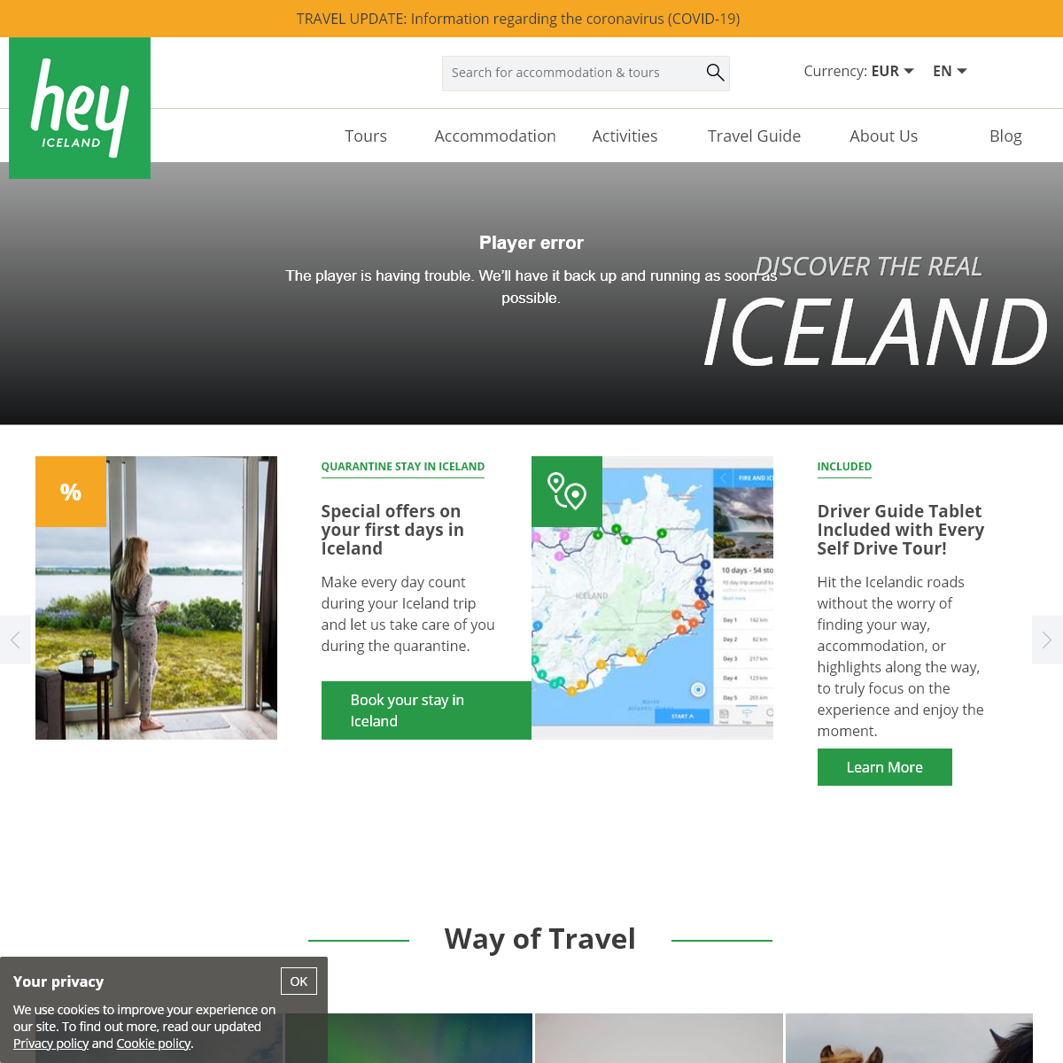 Hey Iceland - Tours and accommodation around Iceland