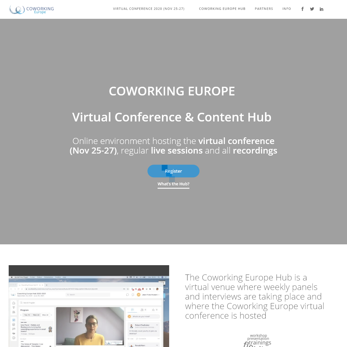 COWORKING EUROPE Virtual Conference & Content Hub