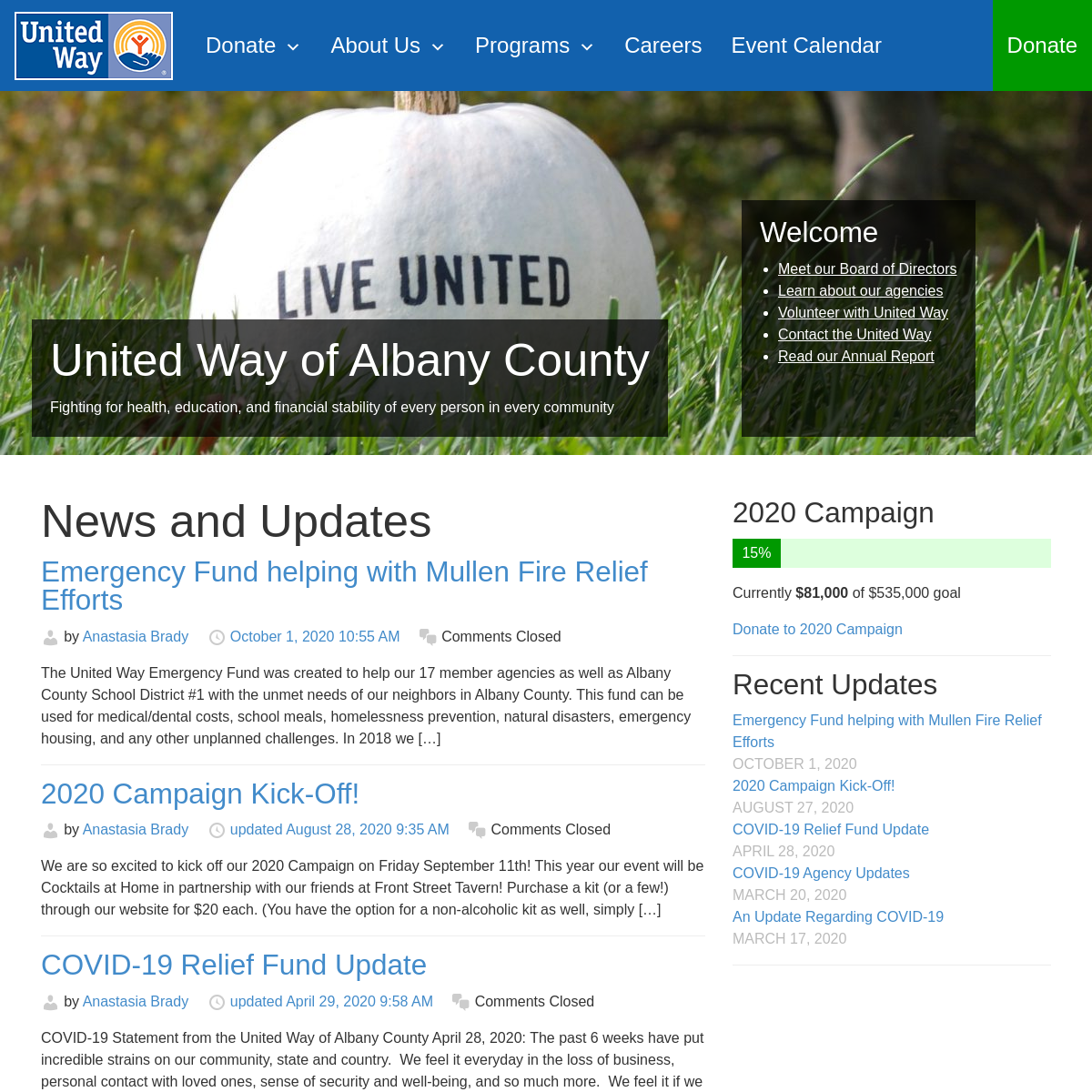 United Way of Albany County – Fighting for health, education, and financial stability of every person in every communityUnited