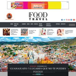 Inicio - Food and travel
