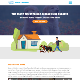 The #1 Dog Walkers in Astoria - Buster & Whiskers - Certified Dog Walkers