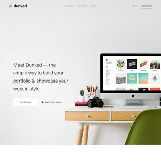 Dunked- Create An Online Portfolio Website
