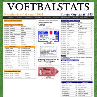 Voetbalstats.NL - Statistieken Nederlands Elftal en de Nederlandse Europa Cup