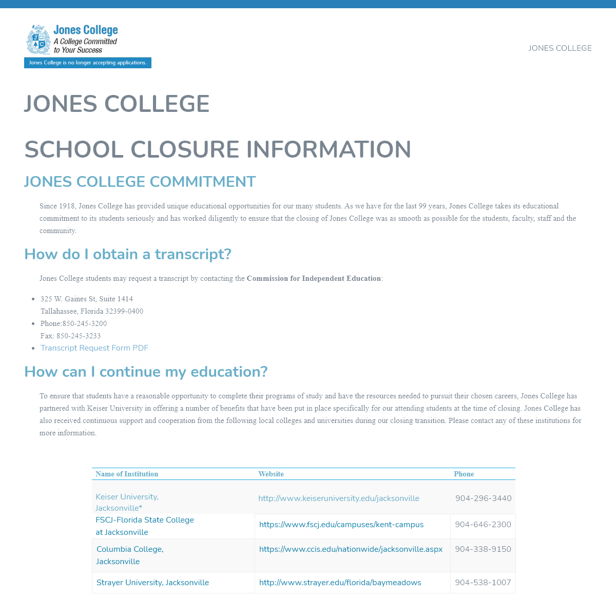 Jones.edu – Jones College Jacksonville Florida