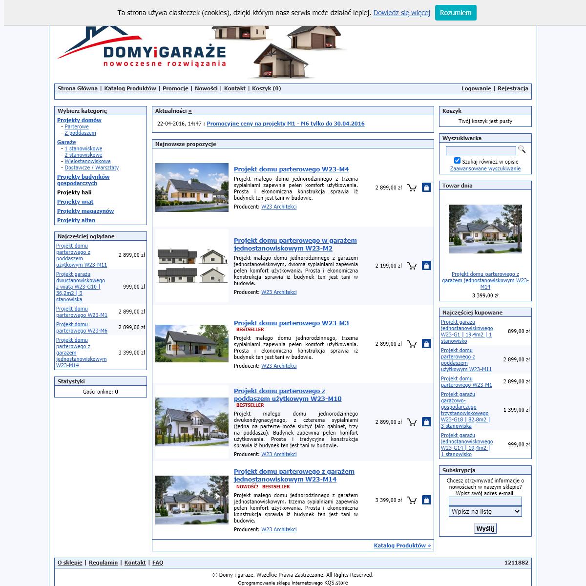 Domy i garaże, projekty domów i garaży