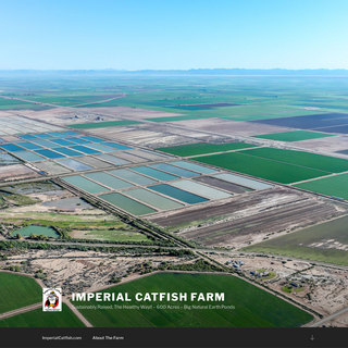 Imperial Catfish Farm – Sustainably Raised, The Healthy Way!! – 600 Acres – Big Natural Earth Ponds