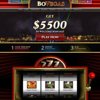 The Best Online Casino - $5500 Welcome Bonus - BoVegas