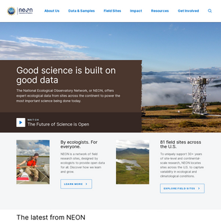 Home - NSF NEON - Open Data to Understand our Ecosystems