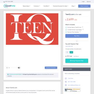 TeenIQ.com is for sale