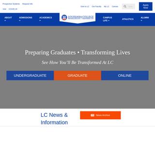 Louisiana College – Preparing Graduates. Transforming Lives.