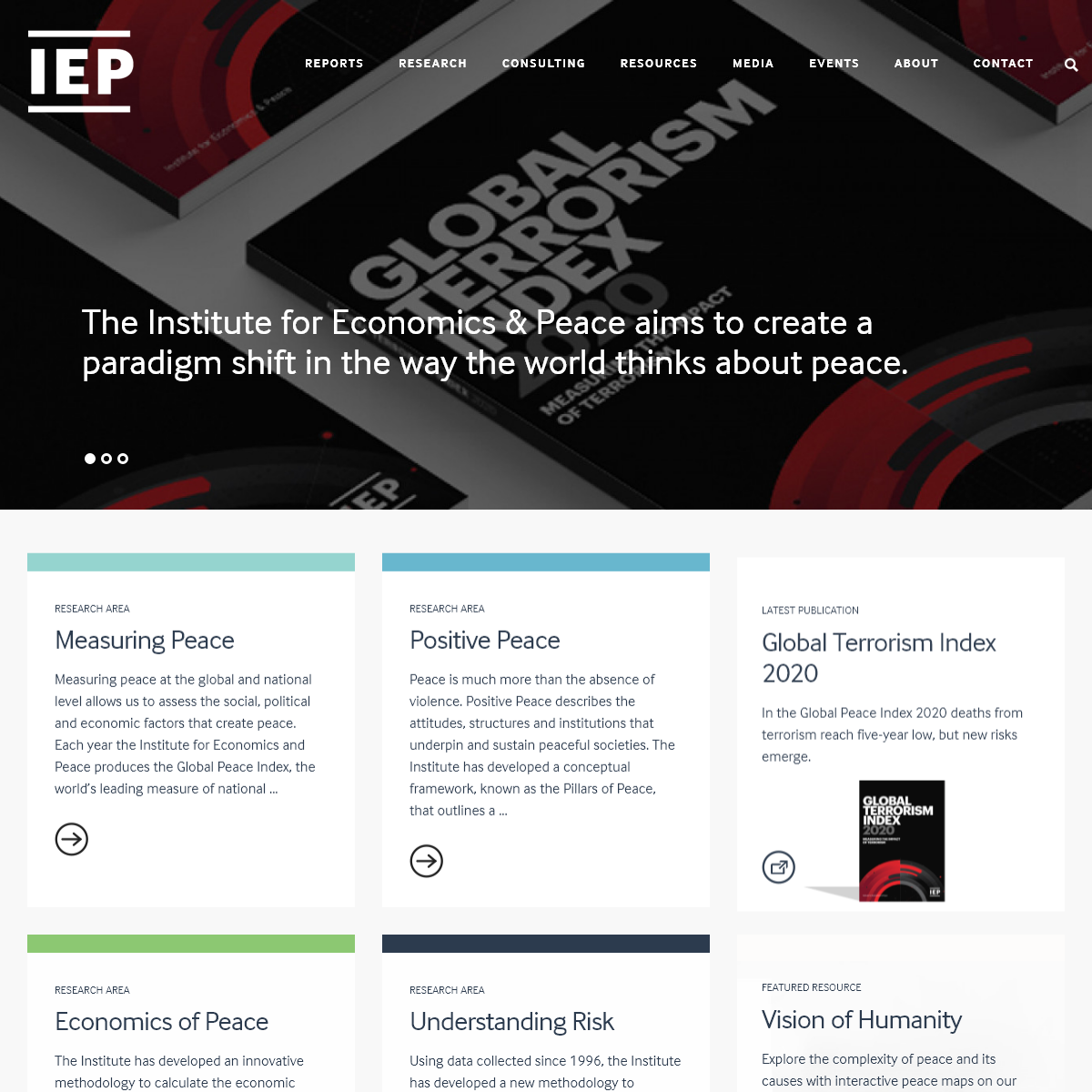 Institute for Economics and Peace – Analysing peace and quantifying its economic value
