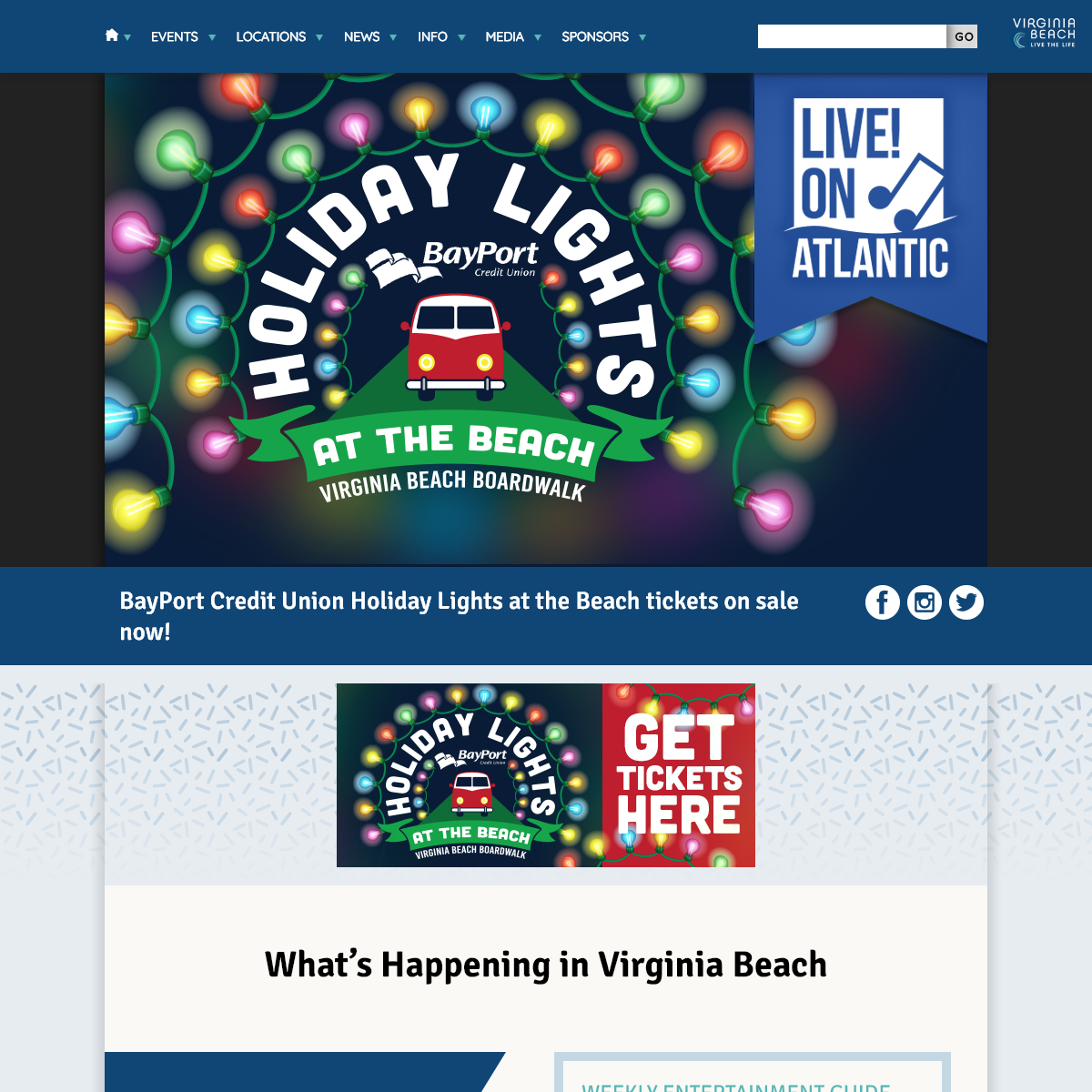 Live! on Atlantic - It`s all happening Live! on Atlantic. Great entertainment at the Virginia Beach Oceanfront.