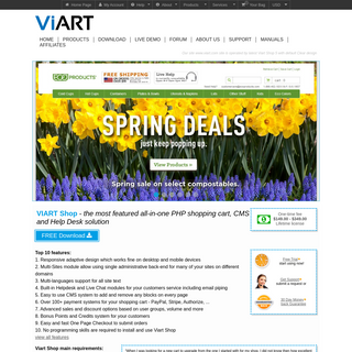 PHP Shopping Cart Software - ViArt Shop