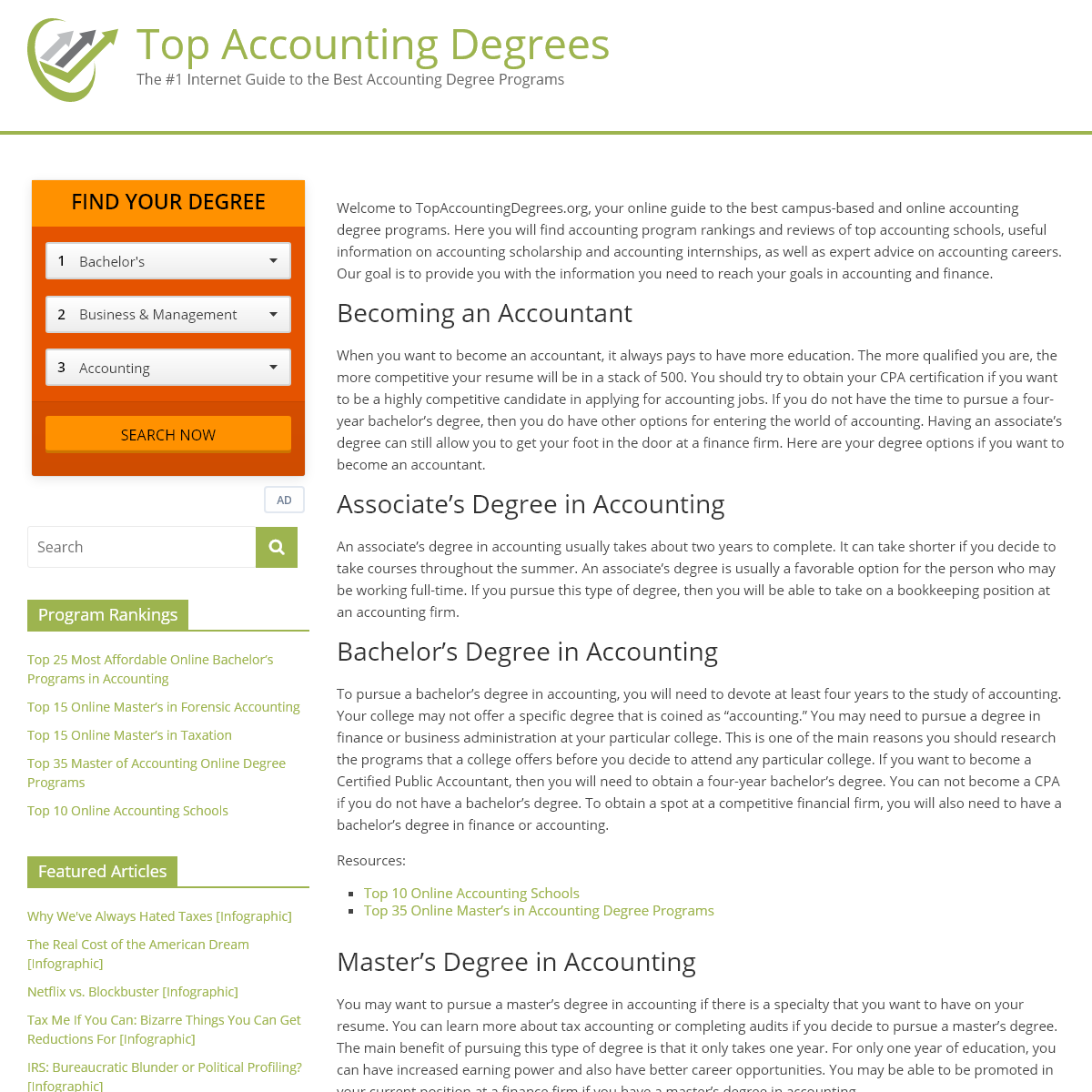 Top Accounting Degrees