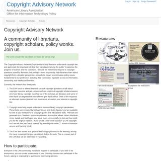 Copyright Advisory Network - Copyright Advisory Network