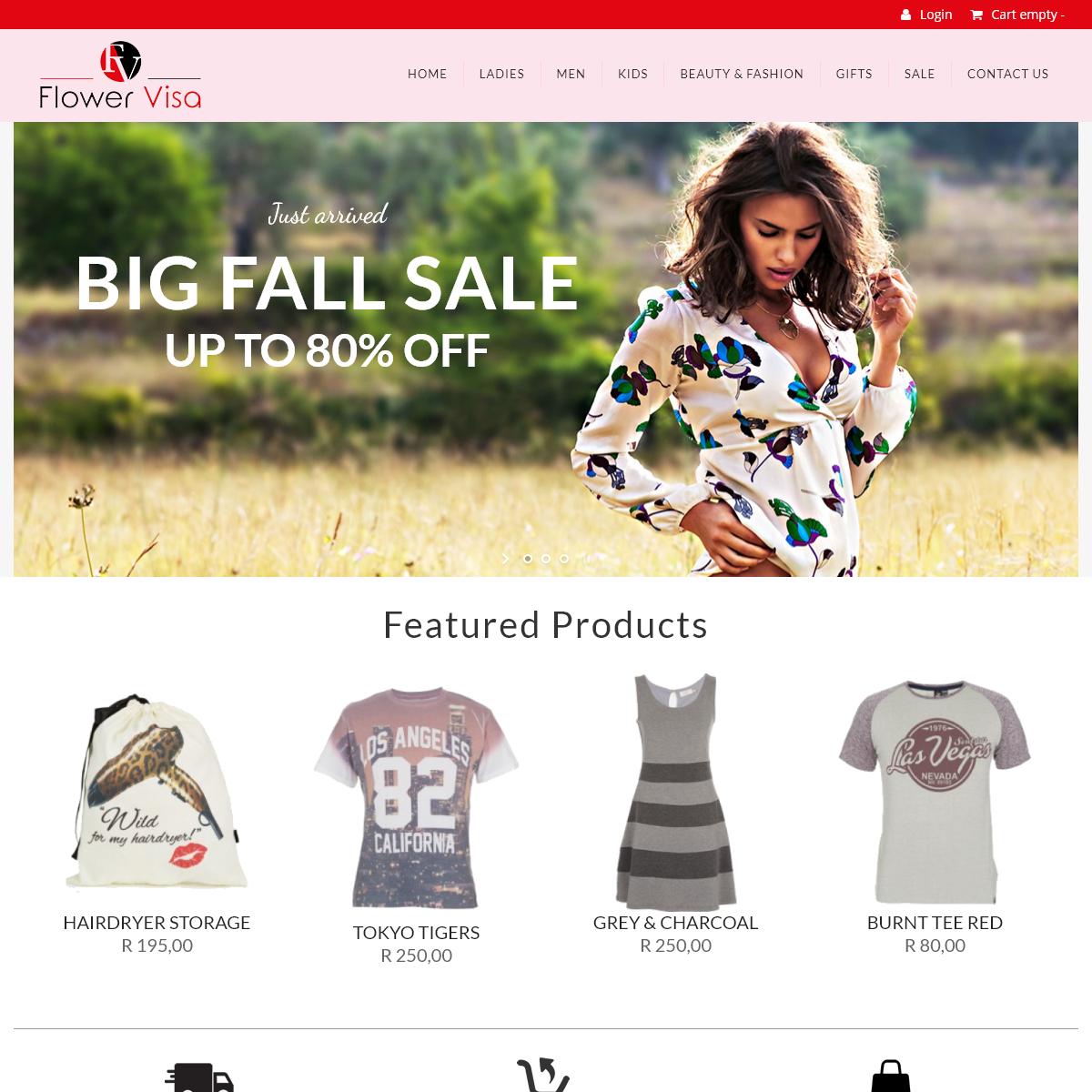 Online Fashion Shop- Flower Visa