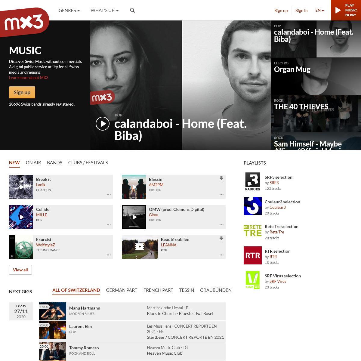 The Swiss Music Portal - Mx3.ch