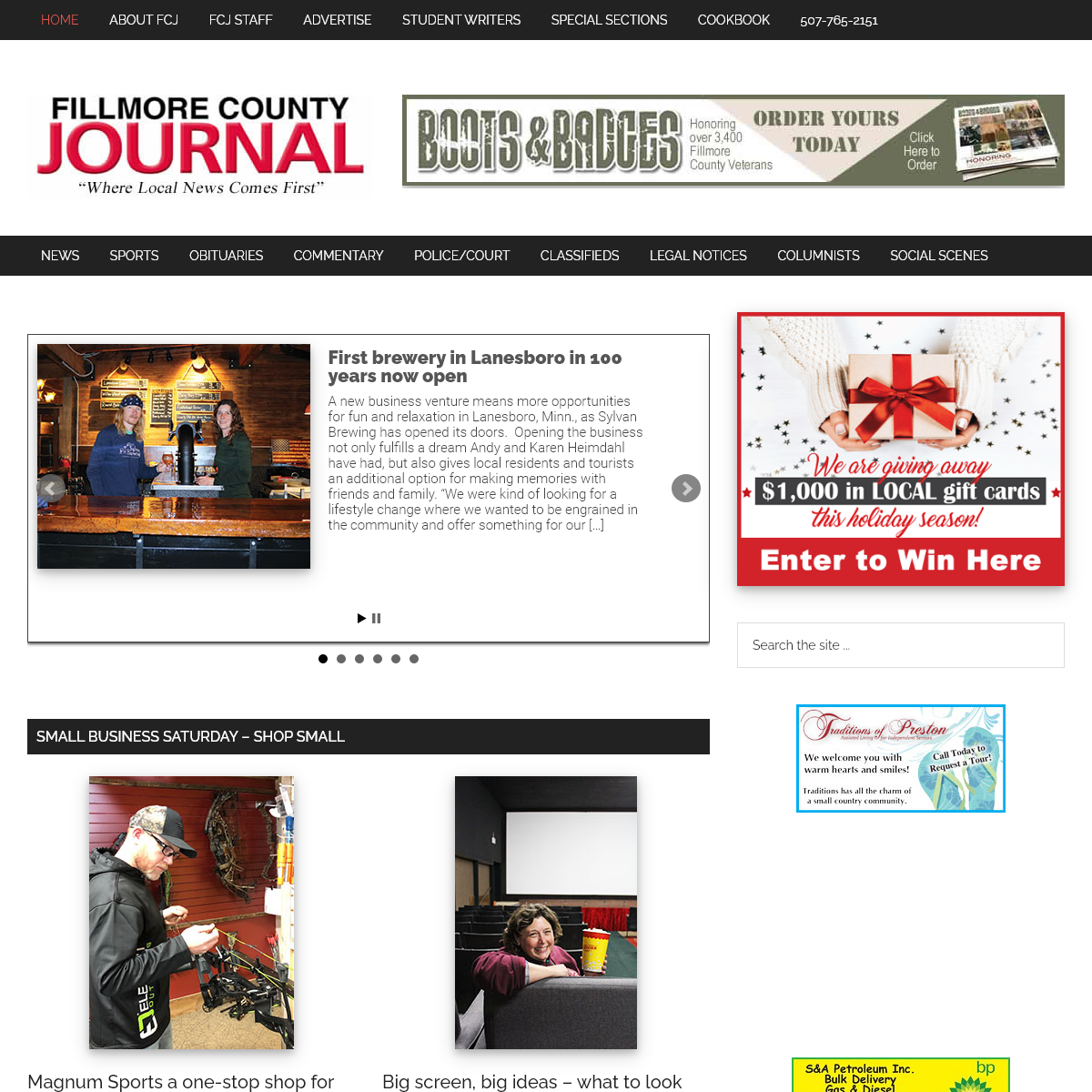 Fillmore County Journal – -Where Fillmore County News Comes First-