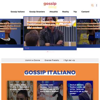 Gossipblog - Gossip, notizie, scoop e curiosità su vip italiani e non