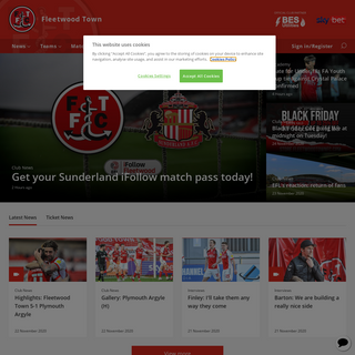 The official Fleetwood Town website