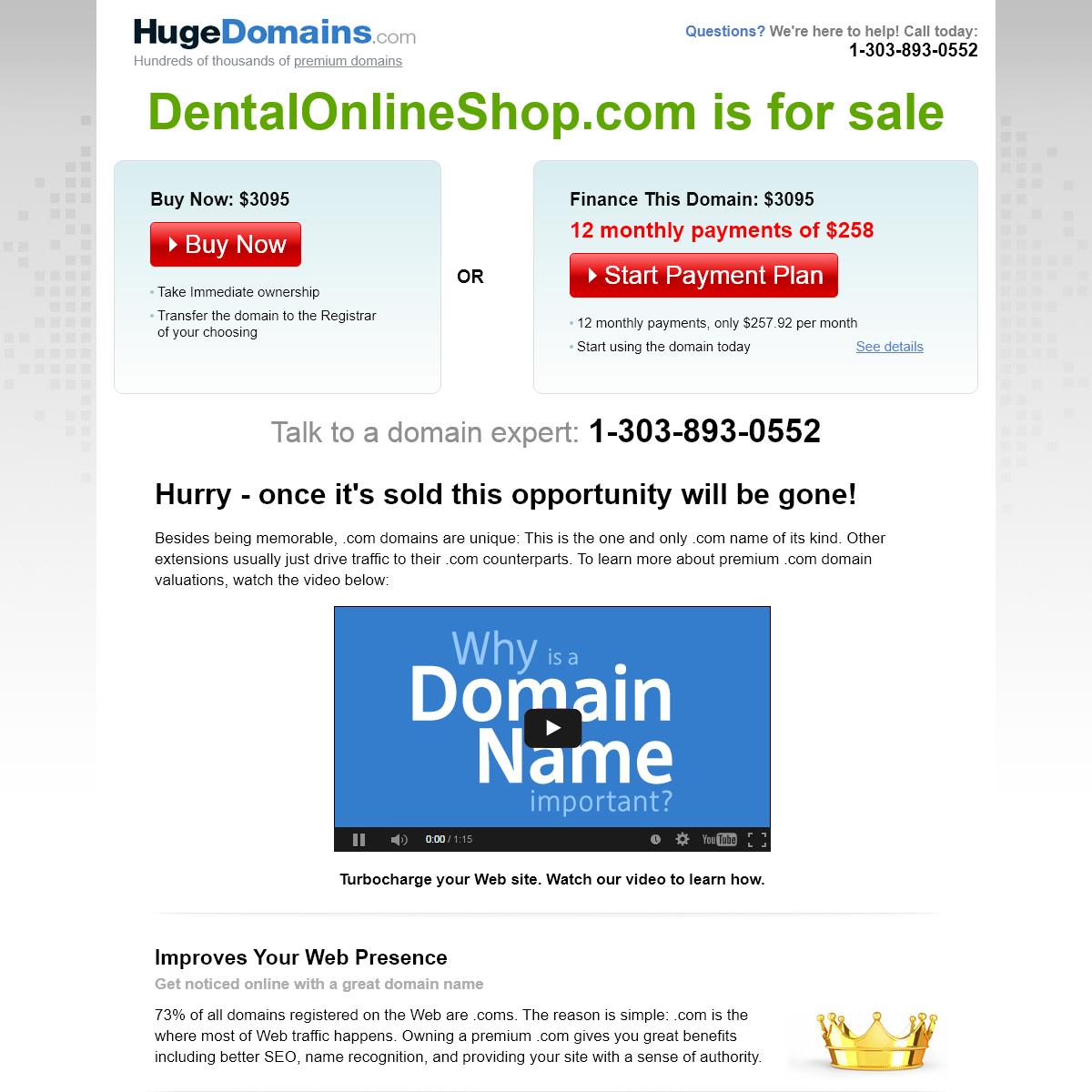 HugeDomains.com - DentalOnlineShop.com is for sale (Dental Online Shop)
