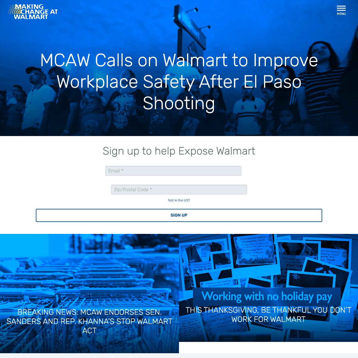 Making Change at Walmart - Change Walmart. Rebuild America.